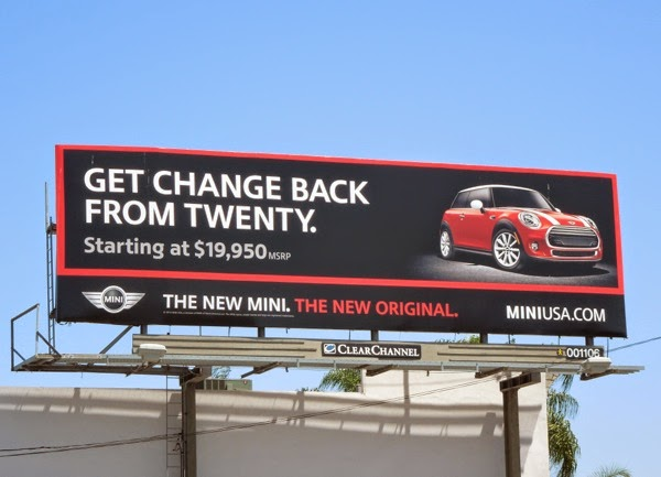 New Mini change from twenty bilboard