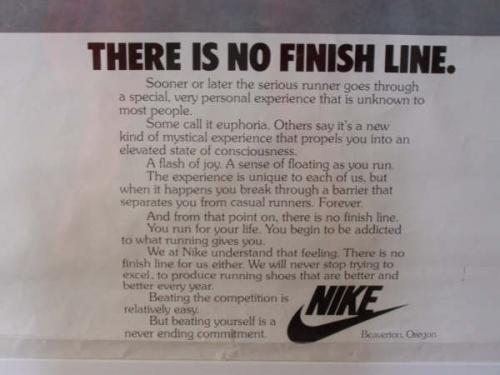 no finish line poster